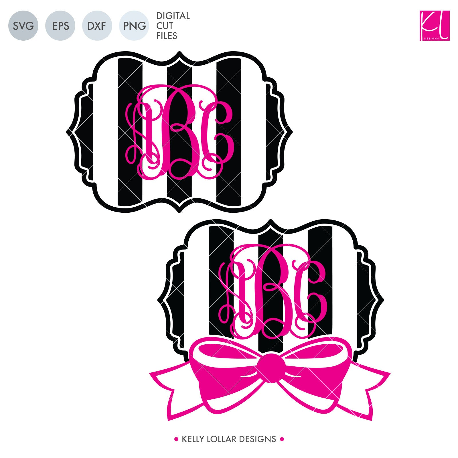 Download Bow Monogram Frames Files Crafter Files