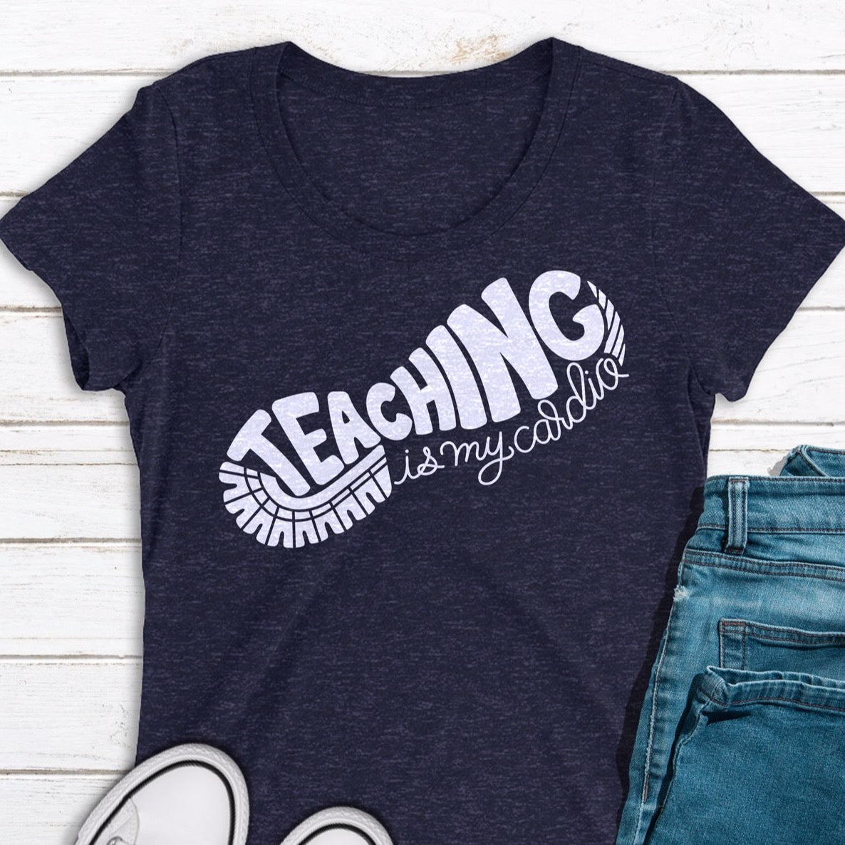 Teaching Is My Cardio | SVG DXF EPS PNG Cut Files