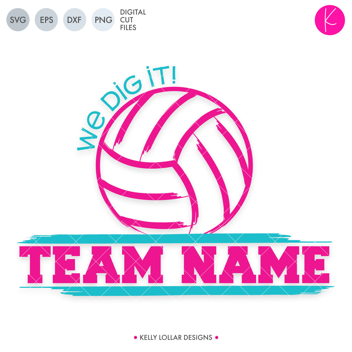 Volleyball Team | SVG DXF ESP PNG Cut Files