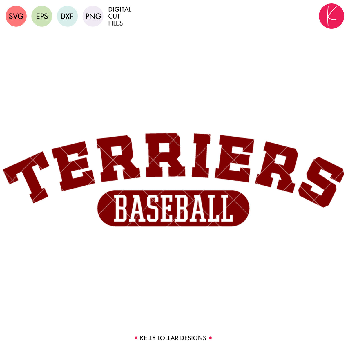 Terriers Baseball & Softball Bundle | SVG DXF EPS PNG Cut Files