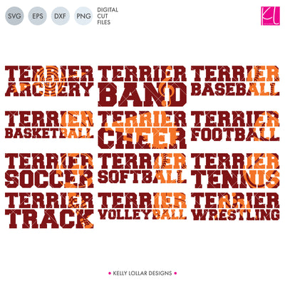 Terriers Sports Pack | SVG DXF EPS PNG Cut Files