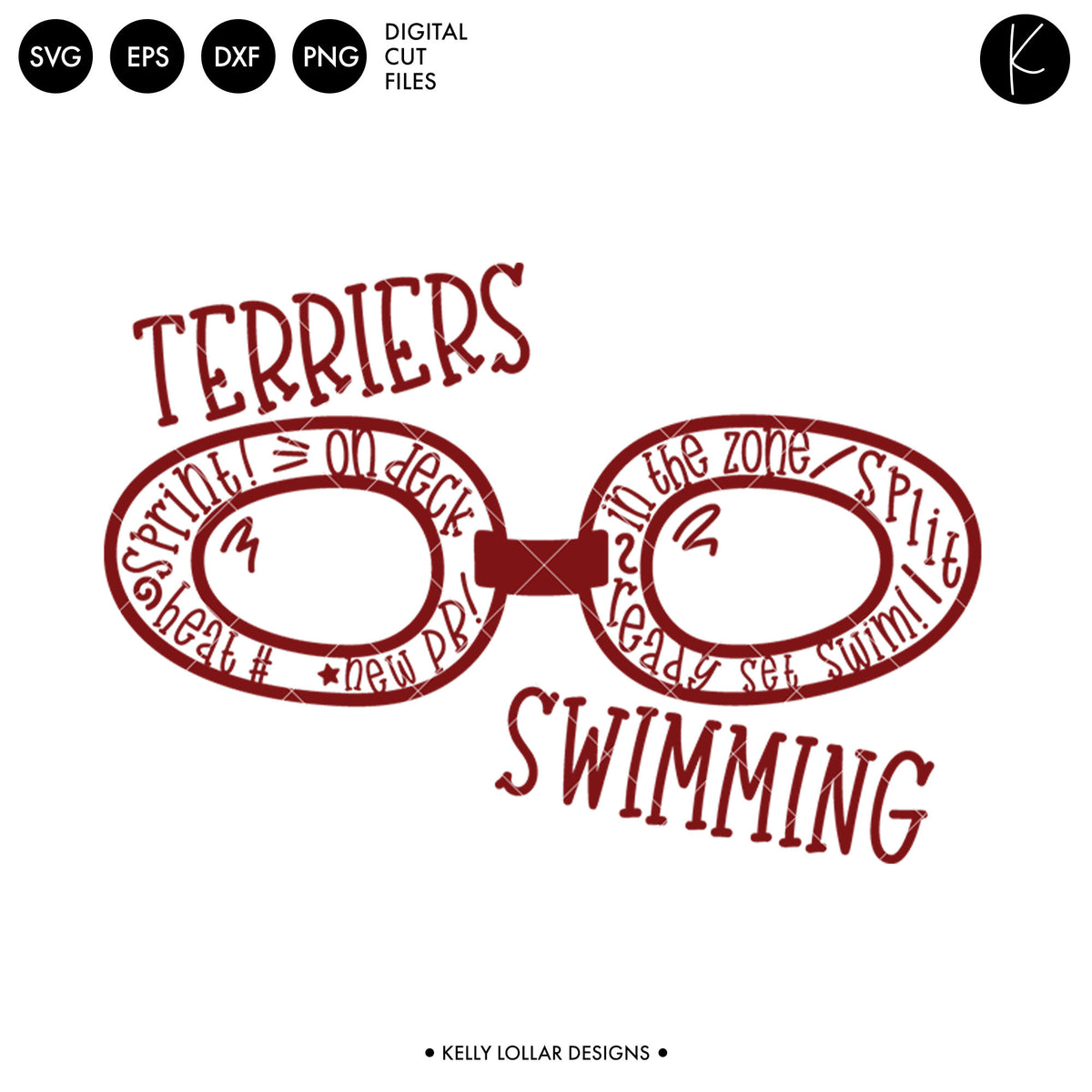 Terriers Swim Bundle | SVG DXF EPS PNG Cut Files