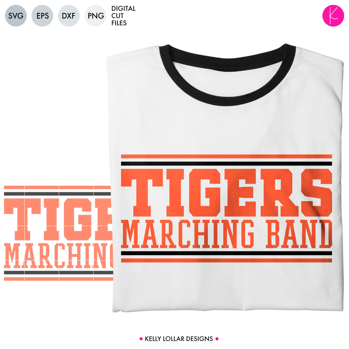 Tigers Band Bundle | SVG DXF EPS PNG Cut Files