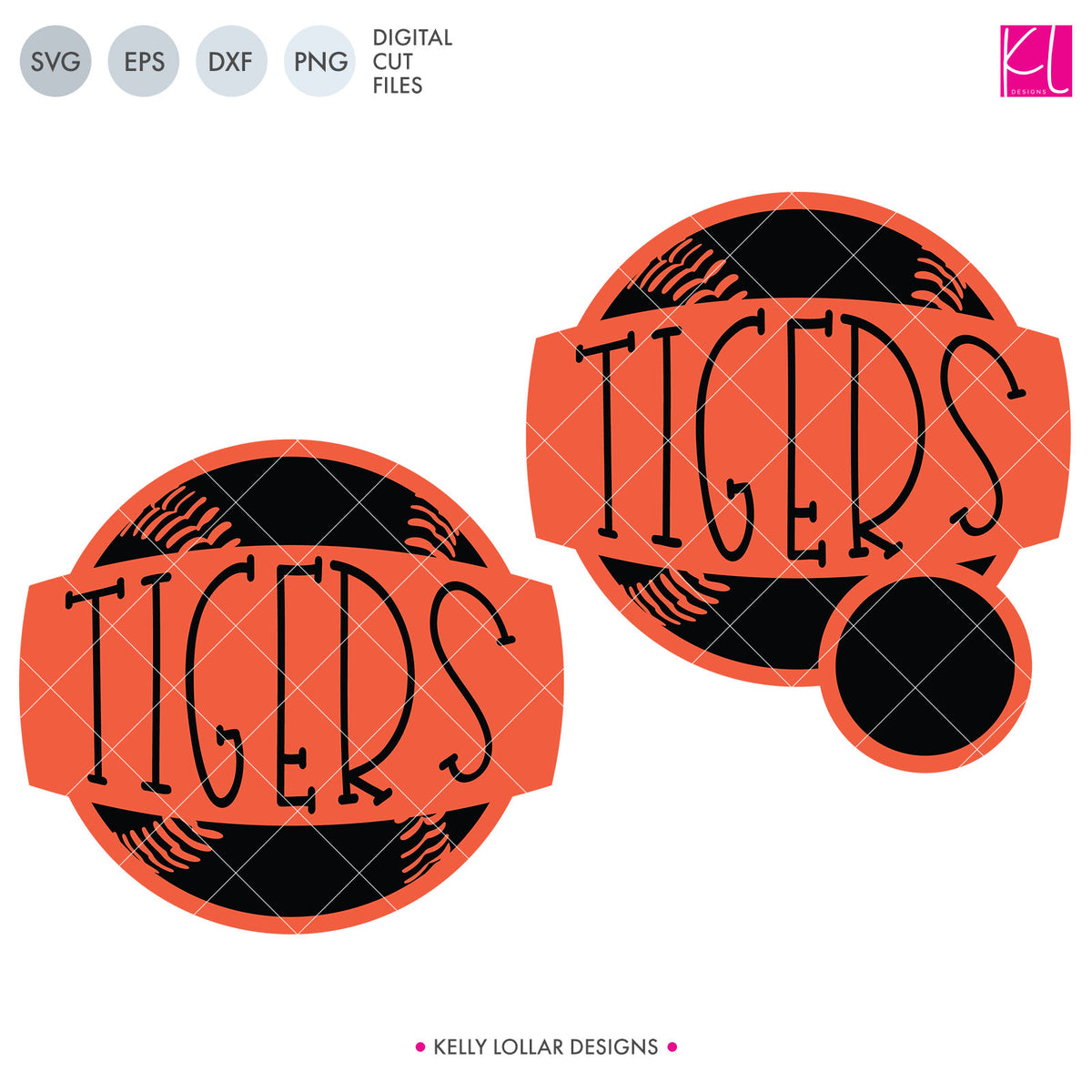 Tigers Baseball & Softball Bundle | SVG DXF EPS PNG Cut Files