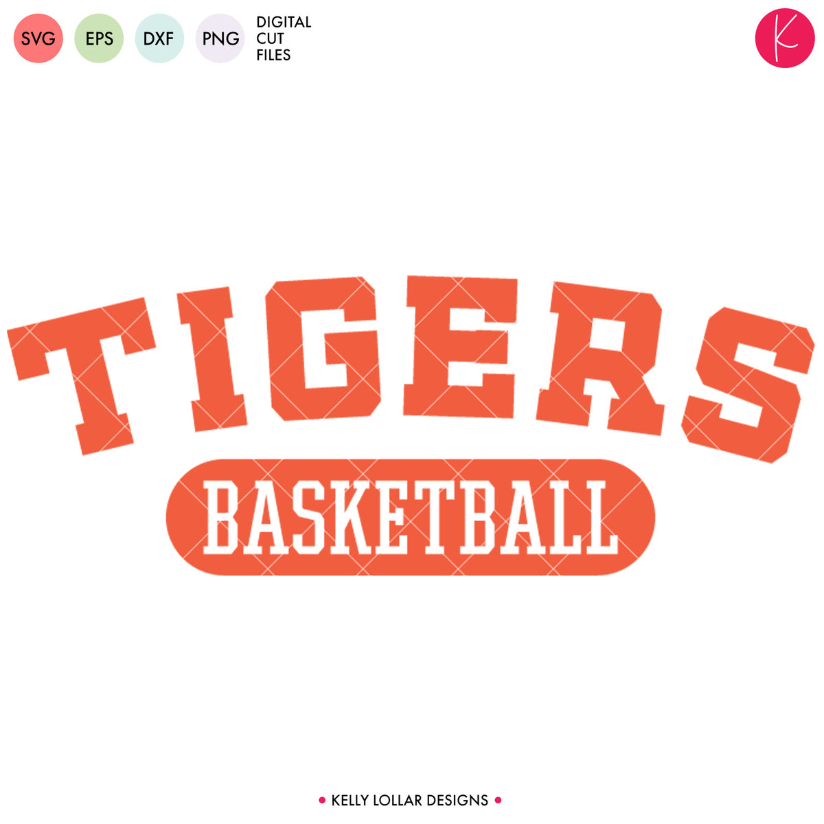 Tigers Basketball Bundle | SVG DXF EPS PNG Cut Files