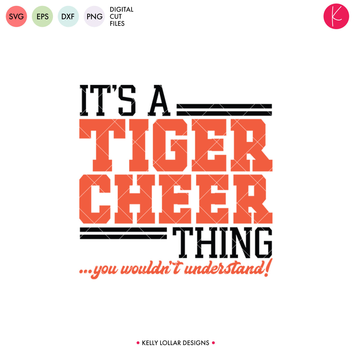 Tigers Cheer Bundle | SVG DXF EPS PNG Cut Files