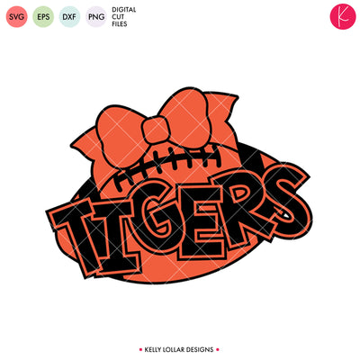 Tigers Football Bundle | SVG DXF EPS PNG Cut Files