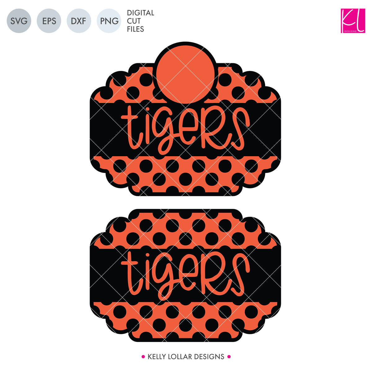 Tigers Mascot Bundle | SVG DXF EPS PNG Cut Files