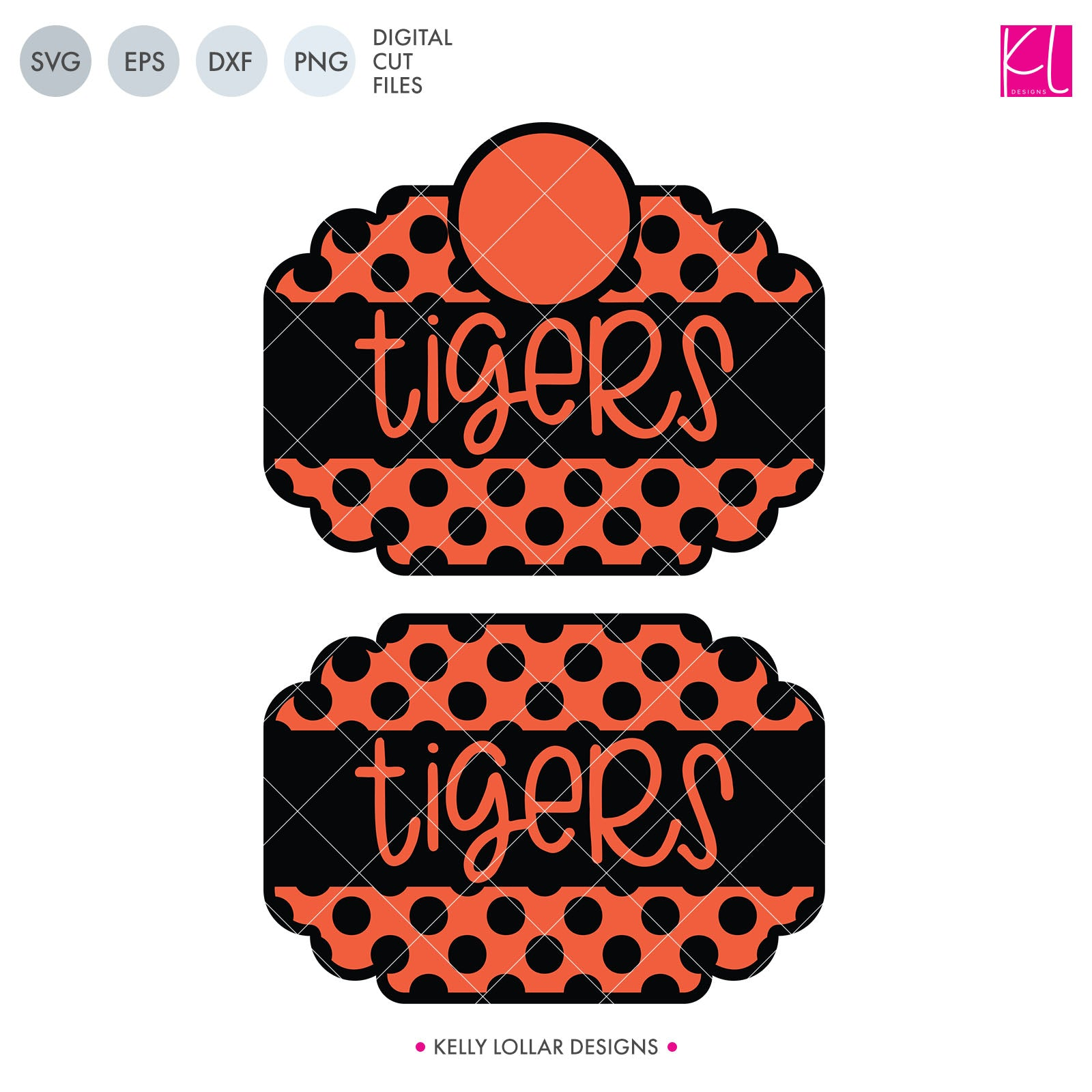 Tigers Mascot Bundle | SVG DXF EPS PNG Cut Files A perfect bundle for Tigers school spirit crafters! This set of 28 designs includes everything from cute and girly to unisex so you'll have a little something for everyone. Includes