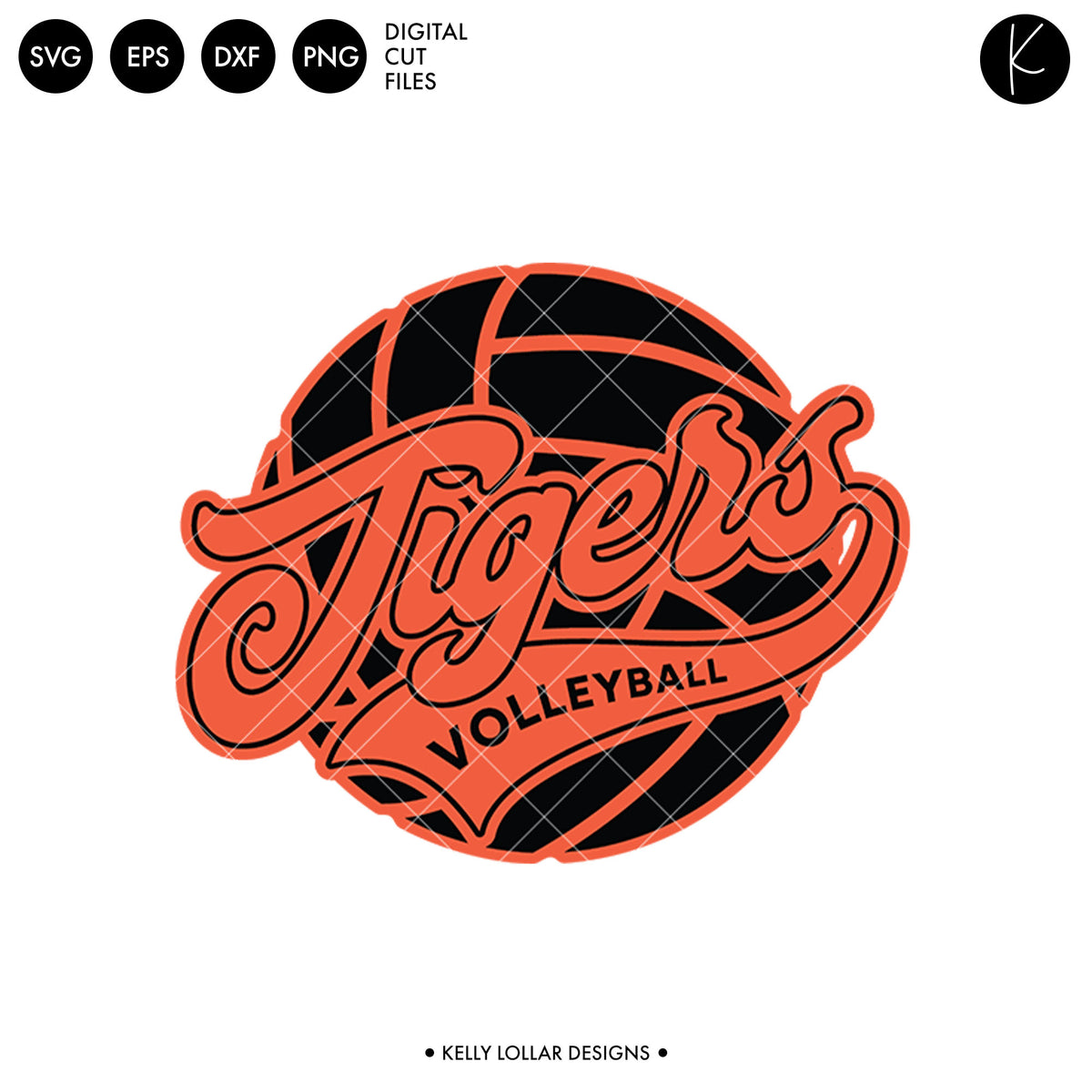 Tigers Volleyball Bundle | SVG DXF EPS PNG Cut Files