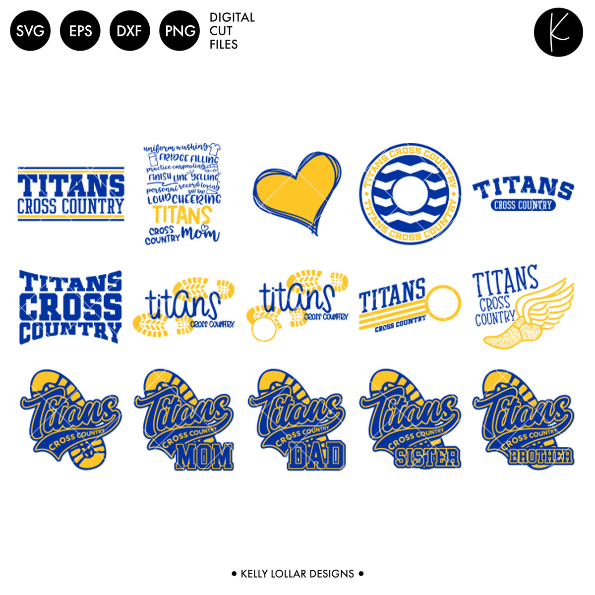 Titans Cross Country Bundle | SVG DXF EPS PNG Cut Files