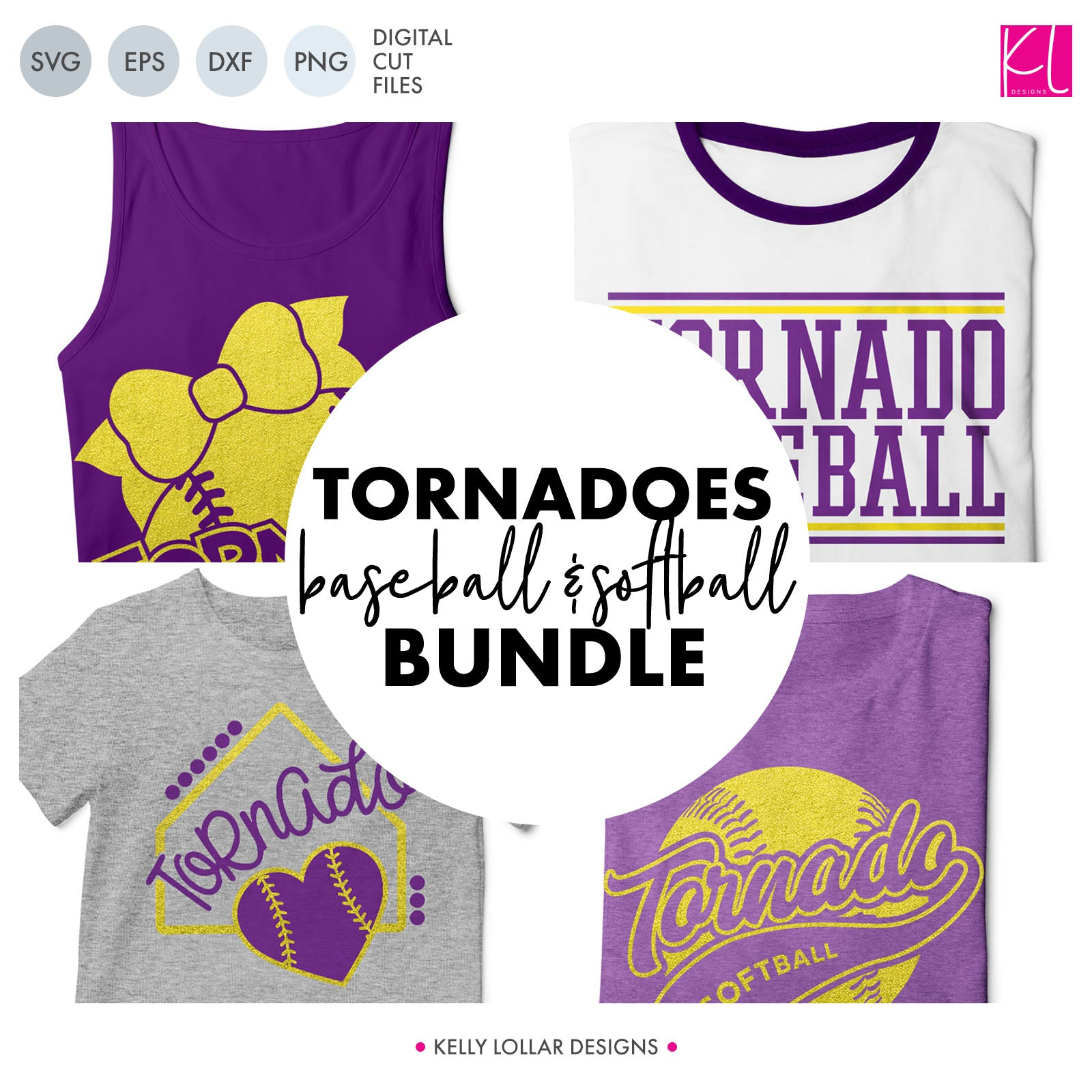 Tornadoes Baseball & Softball Bundle | SVG DXF EPS PNG Cut Files