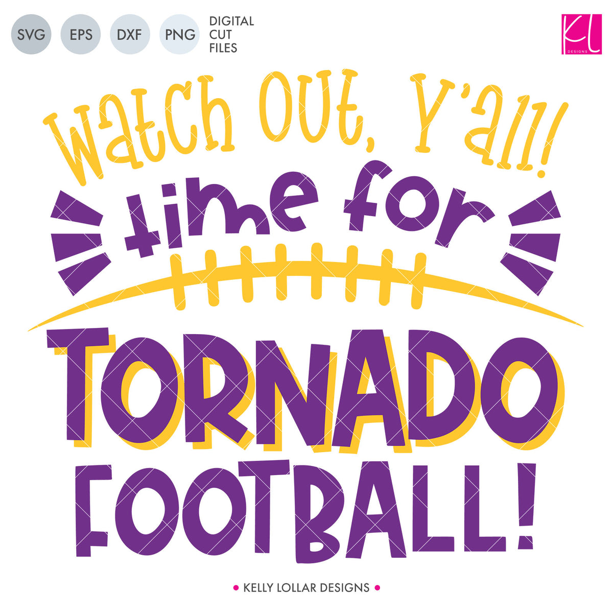 Tornadoes Football Bundle | SVG DXF EPS PNG Cut Files