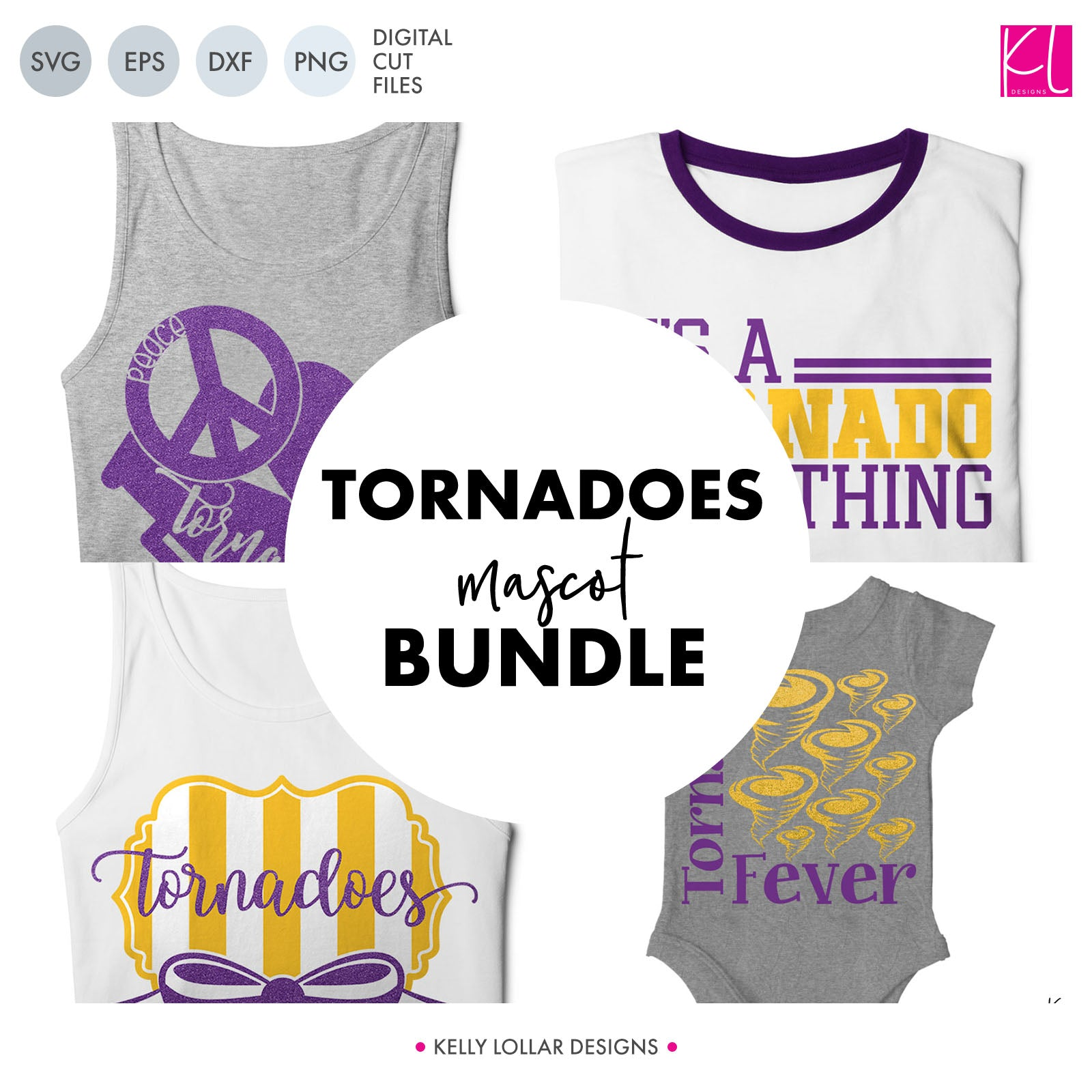 Tornadoes Mascot Bundle | SVG DXF EPS PNG Cut Files A perfect bundle for Tornadoes school spirit crafters! This set of 28 designs includes everything from cute and girly to unisex so you'll have a little something for everyone. Includes