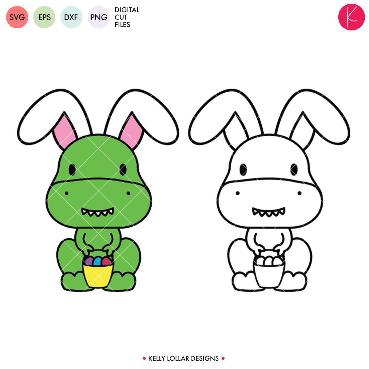Dinosaur Easter Egg Hunter | SVG DXF EPS PNG Cut Files