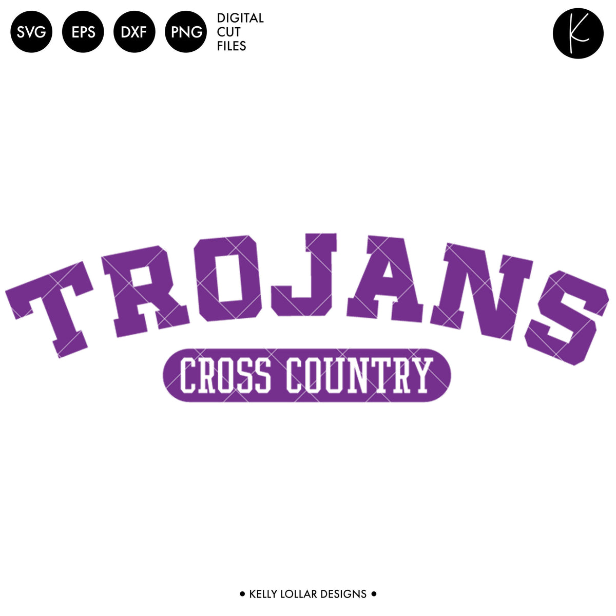 Trojans Cross Country Bundle | SVG DXF EPS PNG Cut Files