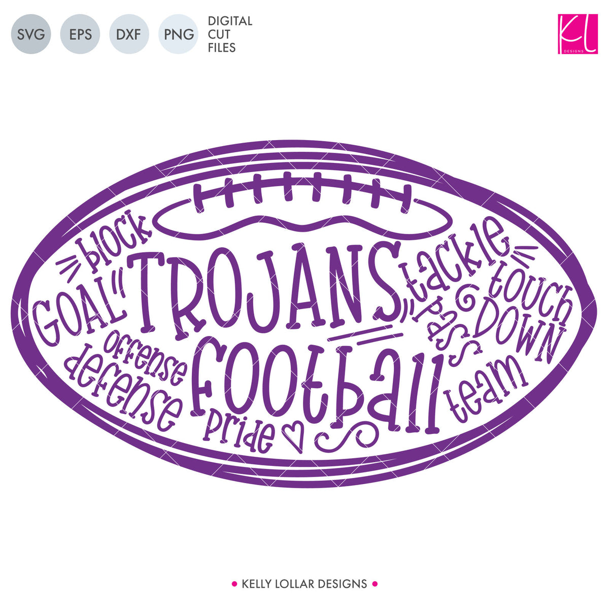 Trojans Football Bundle | SVG DXF EPS PNG Cut Files