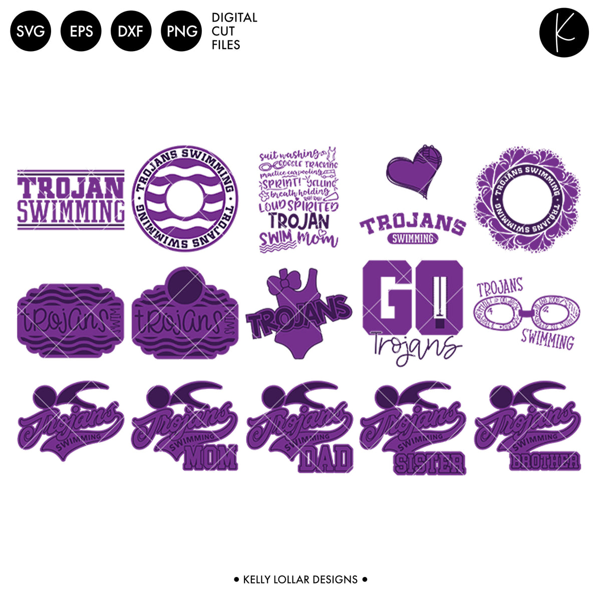 Trojans Everything Spirit Bundle | SVG DXF EPS PNG Cut Files