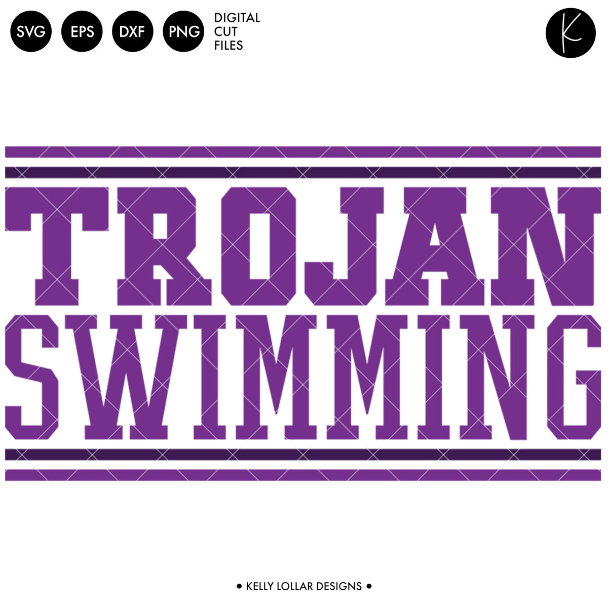 Trojans Swim Bundle | SVG DXF EPS PNG Cut Files