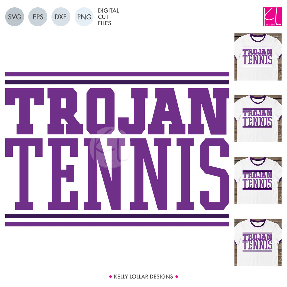 Trojans Tennis  | SVG DXF EPS PNG Cut Files