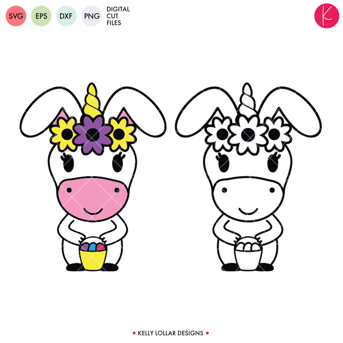 Unicorn Easter Egg Hunter | SVG DXF EPS PNG Cut Files