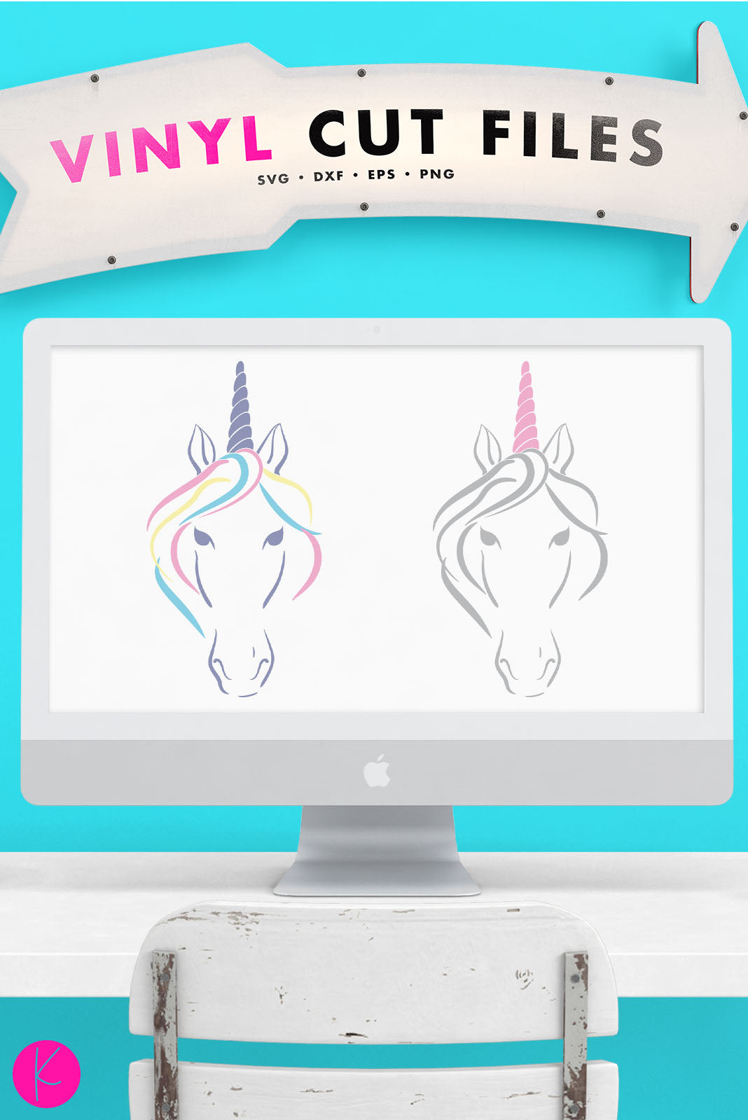 Abstract Unicorn Svg File Kelly Lollar Designs
