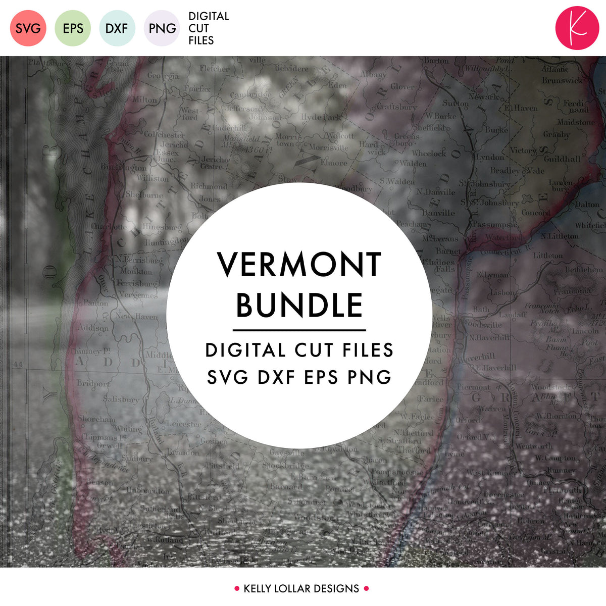 Vermont State Bundle | SVG DXF EPS PNG Cut Files
