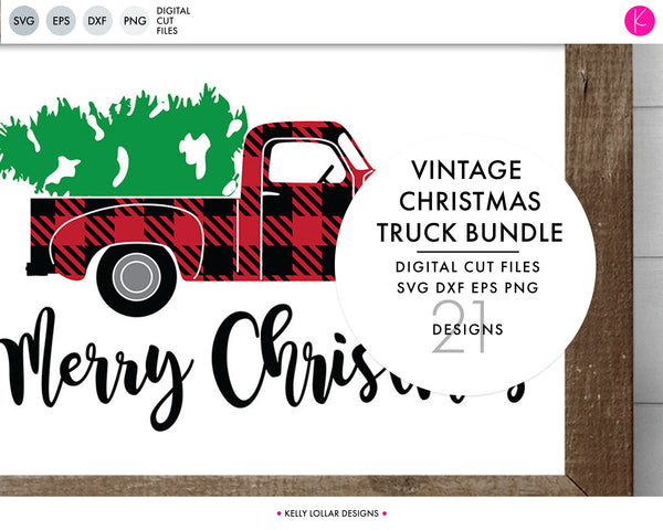 Christmas Truck Svg.Christmas Truck Svg Dxf Eps Png Cut Files