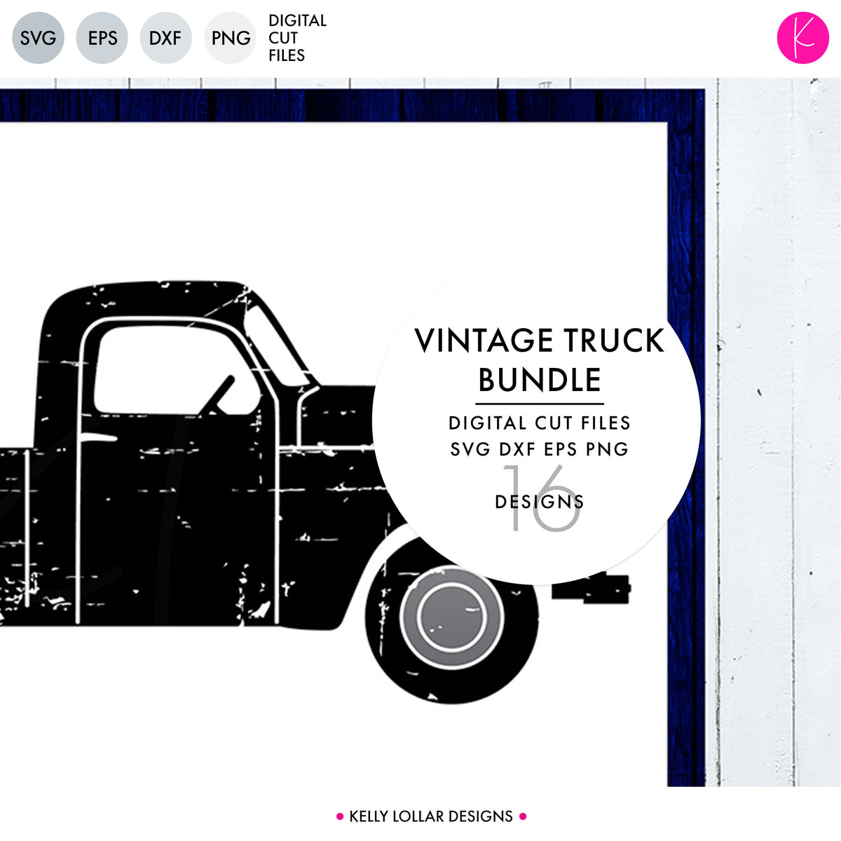 Vintage Truck | SVG DXF EPS PNG Cut Files