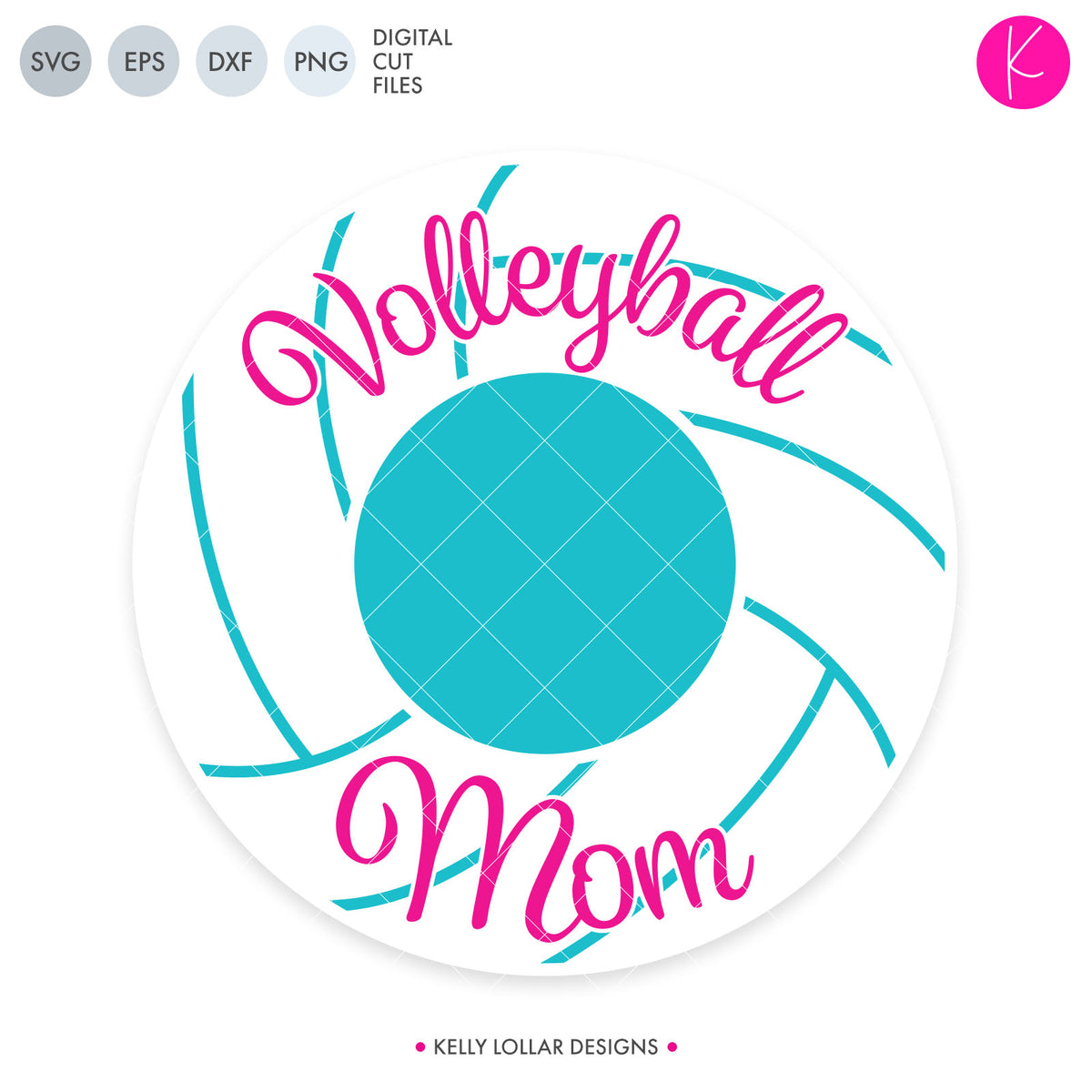 Volleyball Mom Monogram Frame | SVG DXF EPS PNG Cut Files