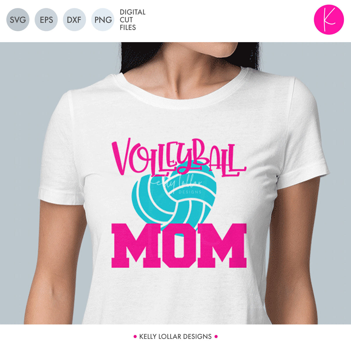 Volleyball Mom | SVG DXF EPS PNG Cut Files