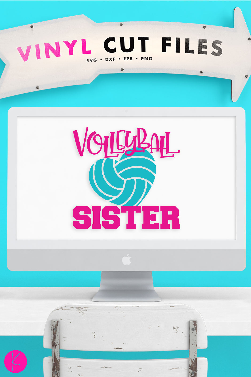 Volleyball Sister | SVG DXF EPS PNG Cut Files