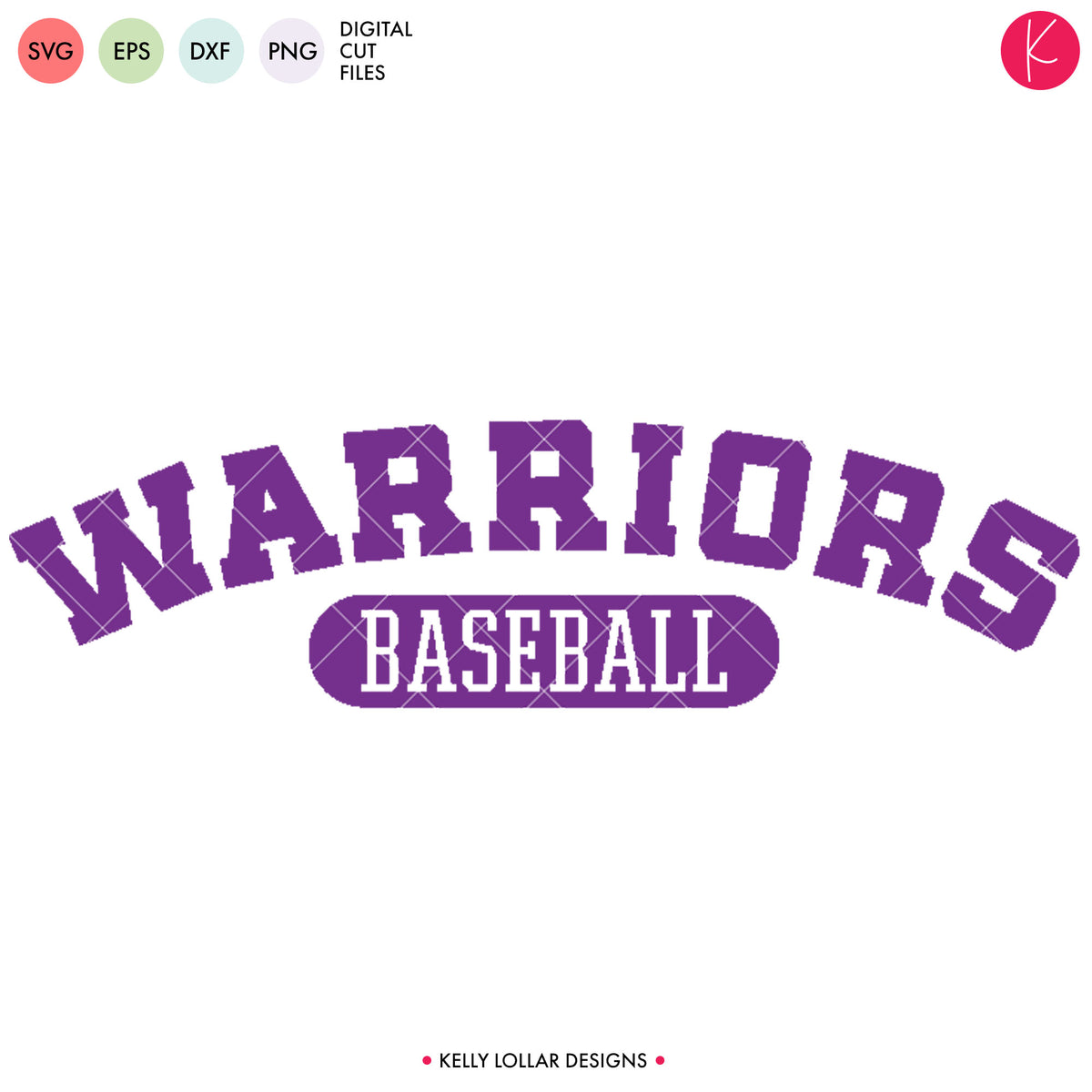 Warriors Baseball & Softball Bundle | SVG DXF EPS PNG Cut Files