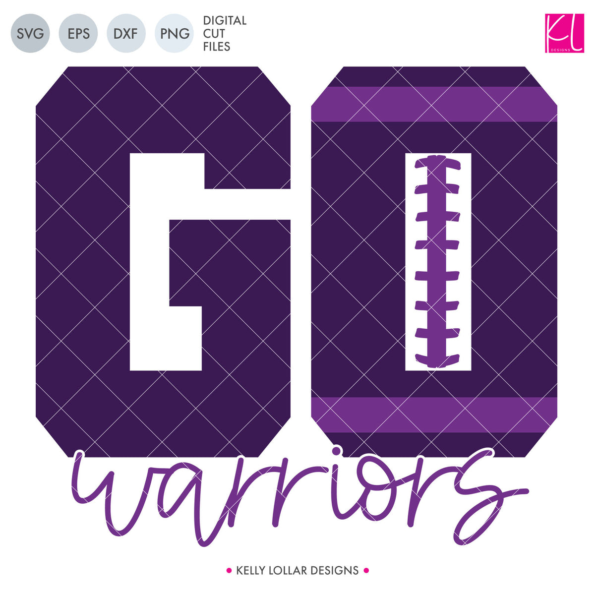 Warriors Football Bundle | SVG DXF EPS PNG Cut Files