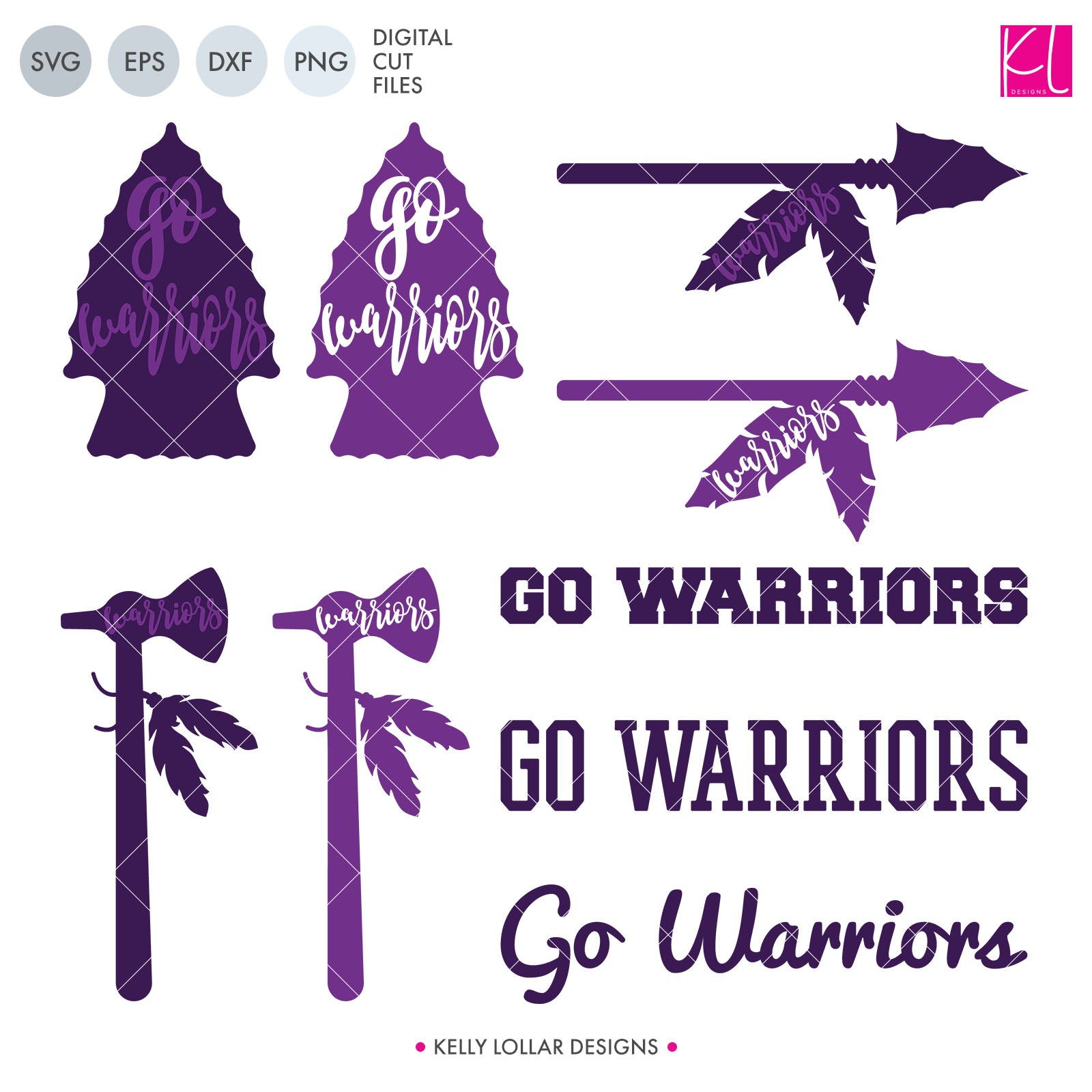 Warriors Mascot Bundle | SVG DXF EPS PNG Cut Files A perfect bundle for Warriors school spirit crafters! This set of 28 designs includes everything from cute and girly to unisex so you'll have a little something for everyone. Includes