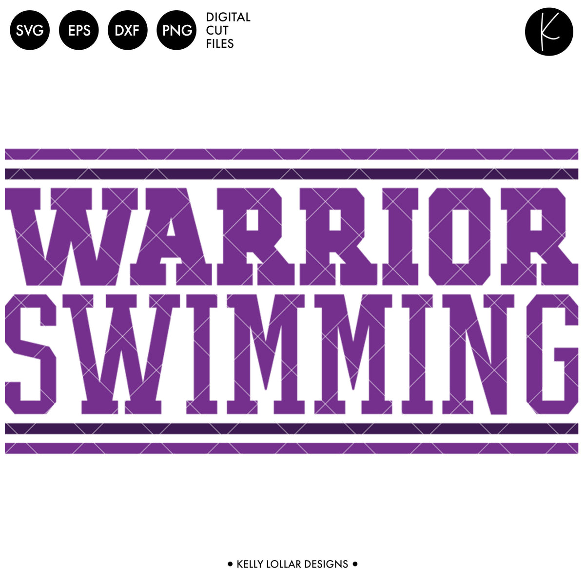 Warriors Swim Bundle | SVG DXF EPS PNG Cut Files