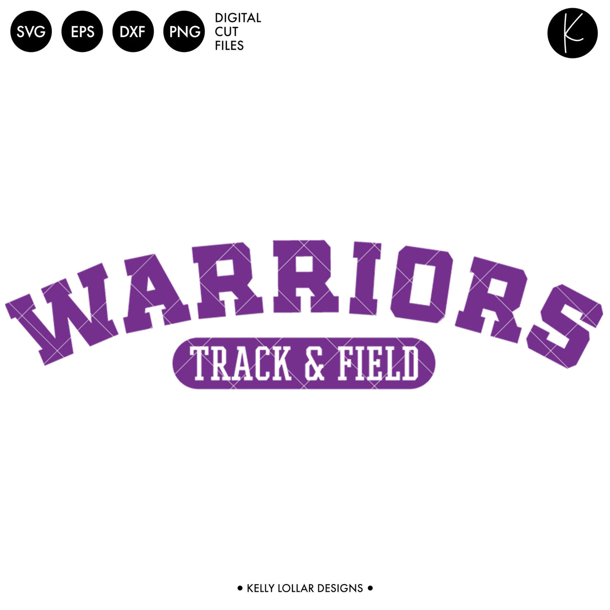 Warriors Track & Field Bundle | SVG DXF EPS PNG Cut Files