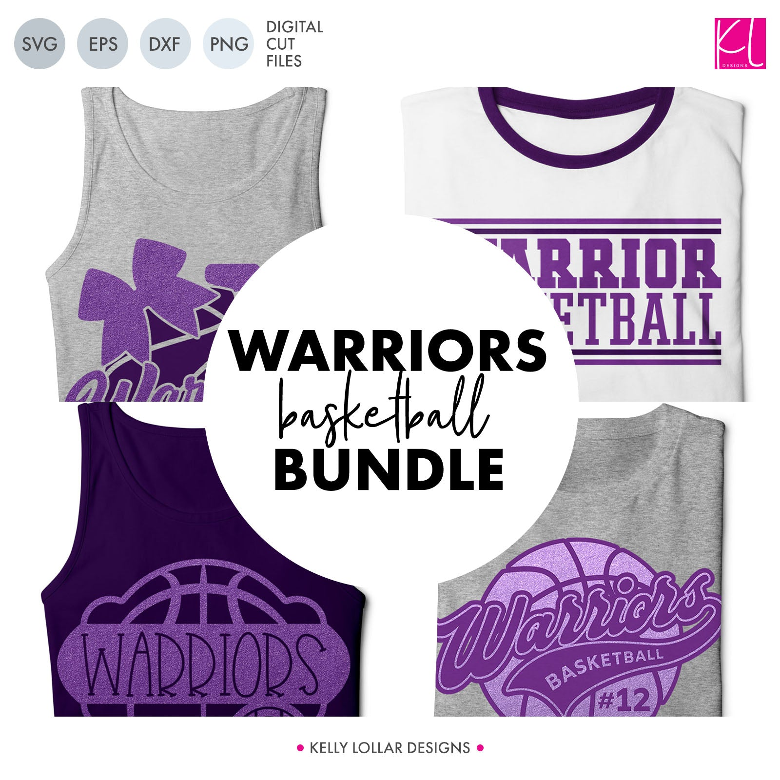 Warriors Basketball Bundle | SVG DXF EPS PNG Cut Files