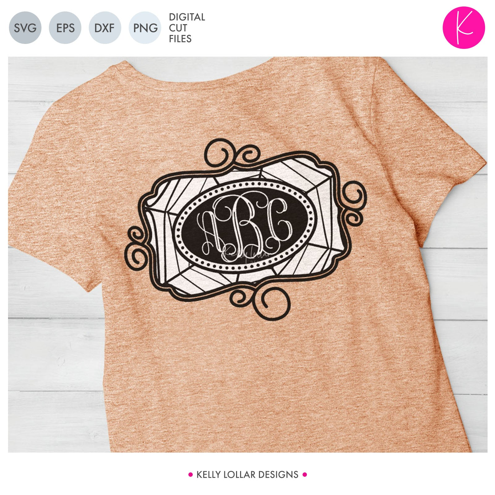 Web Oval Monogram | SVG DXF EPS PNG Cut Files