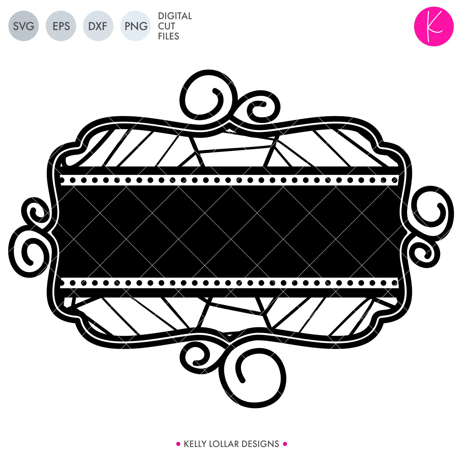 Web Split Monogram | SVG DXF EPS PNG Cut Files Wrought Iron Inspired Spider Web Split Monogram Frame for Halloween Shirts and Decor | SVG DXF EPS PNG Cut Files Wide oval monogram frame with cobweb background and curly border