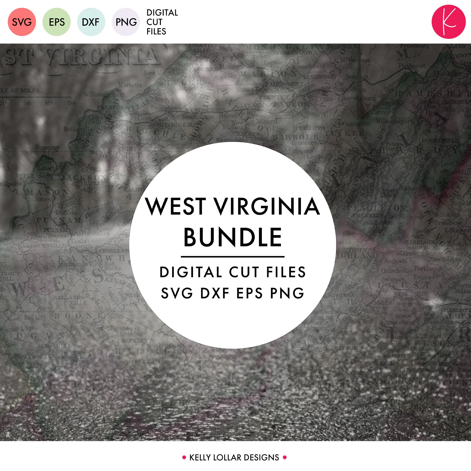 West Virginia State Bundle | SVG DXF EPS PNG Cut Files
