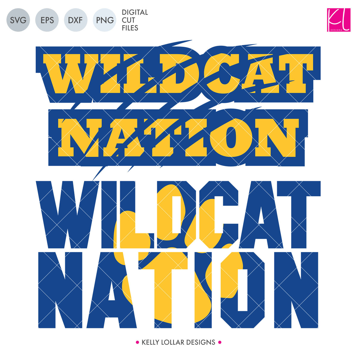 Wildcats Mascot Bundle | SVG DXF EPS PNG Cut Files