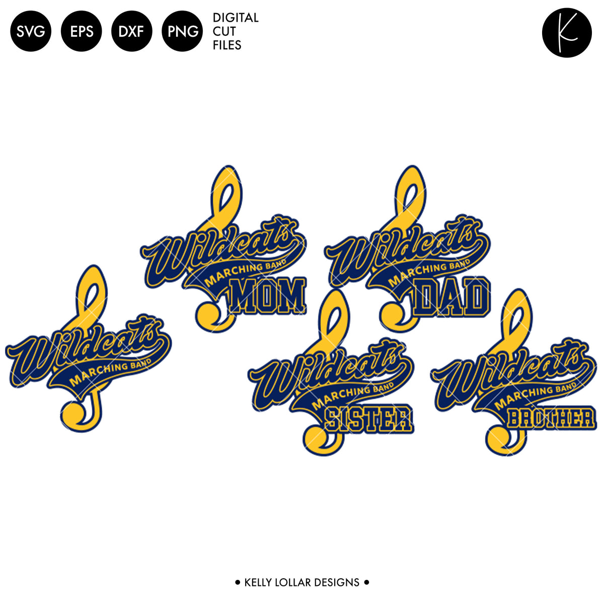 Wildcats Band Bundle | SVG DXF EPS PNG Cut Files