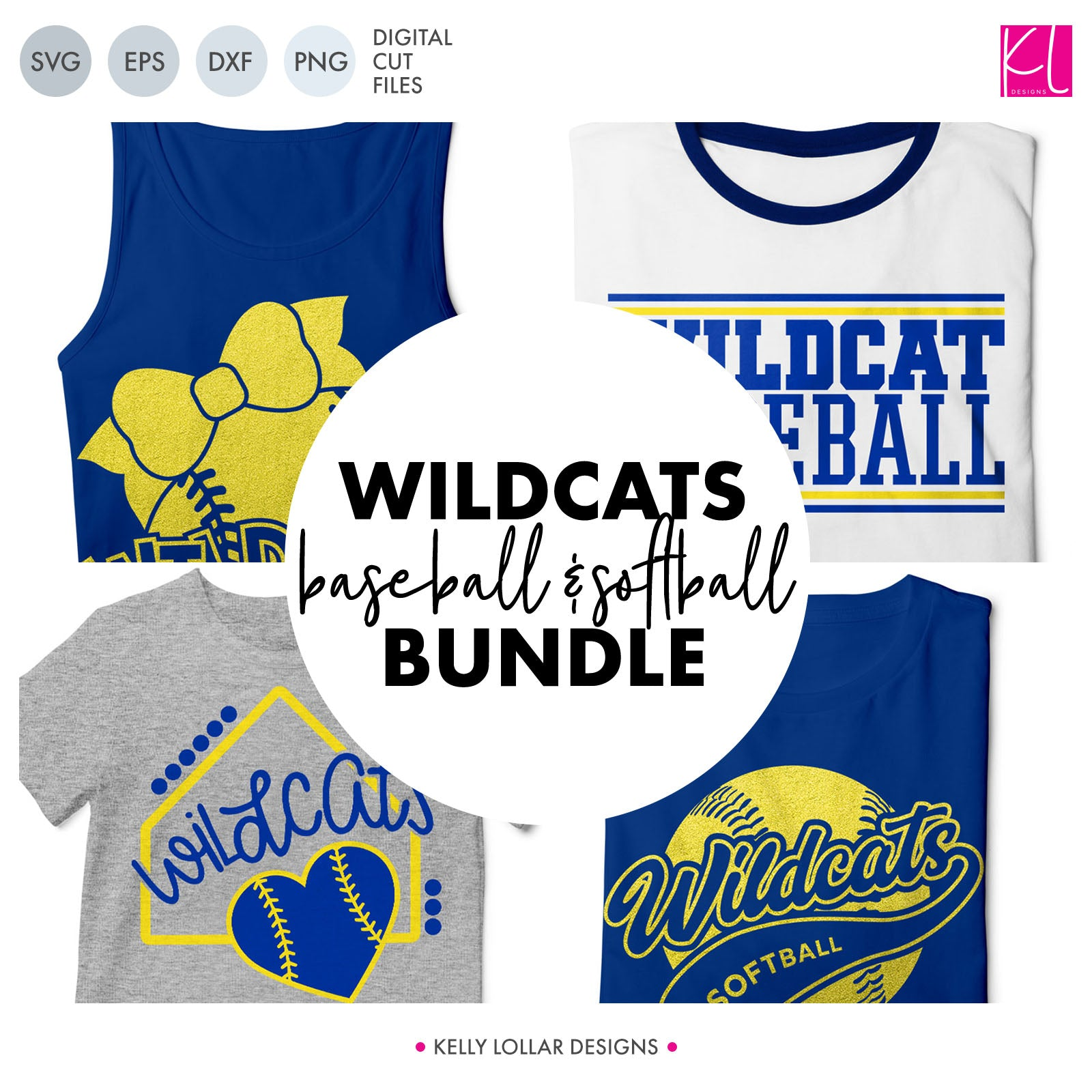 Wildcats Baseball & Softball Bundle | SVG DXF EPS PNG Cut Files