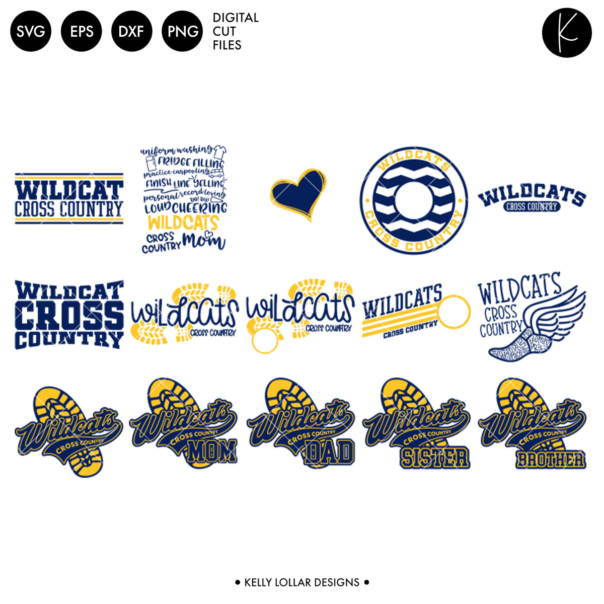 Wildcats Everything Spirit Bundle | SVG DXF EPS PNG Cut Files