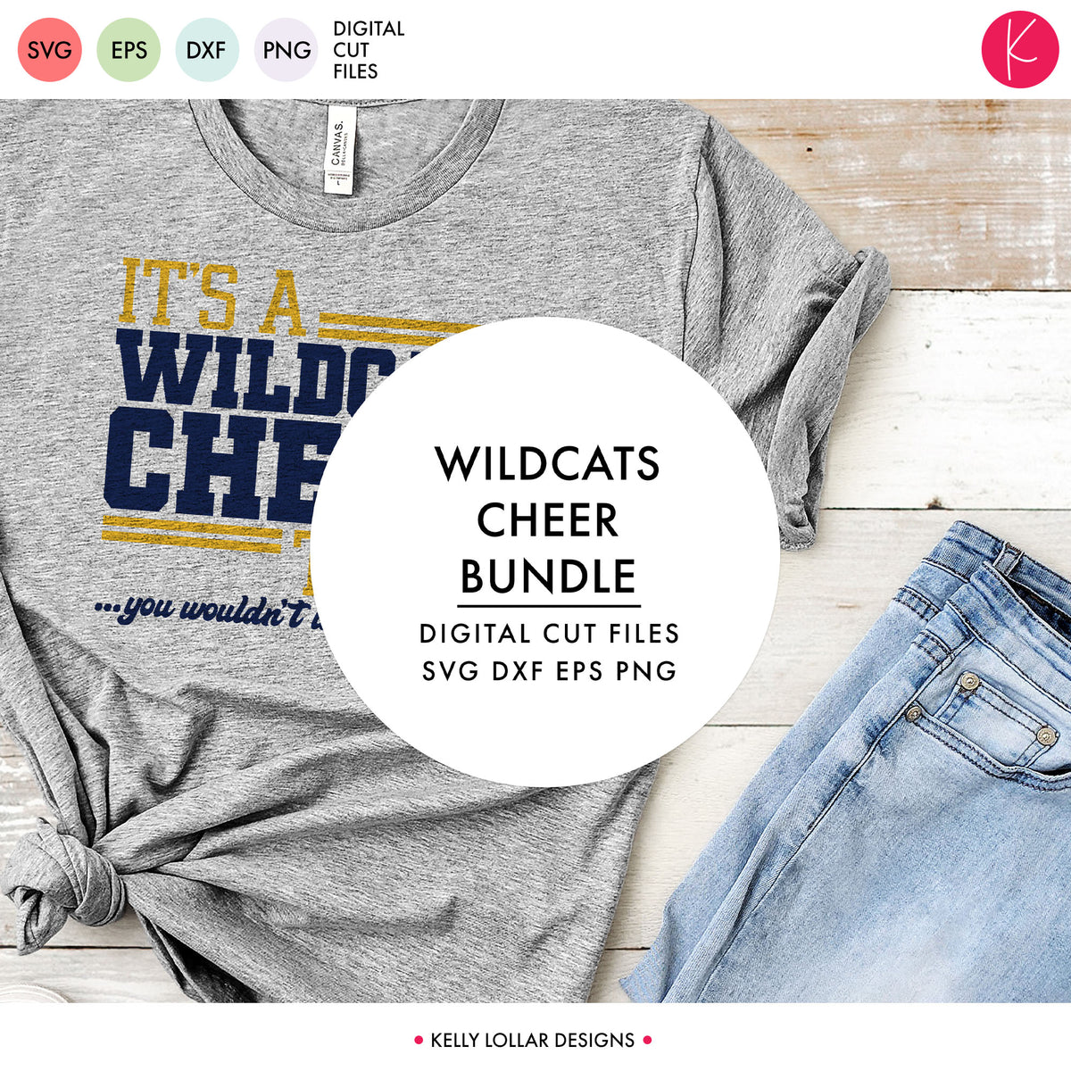 Wildcats Cheer Bundle | SVG DXF EPS PNG Cut Files