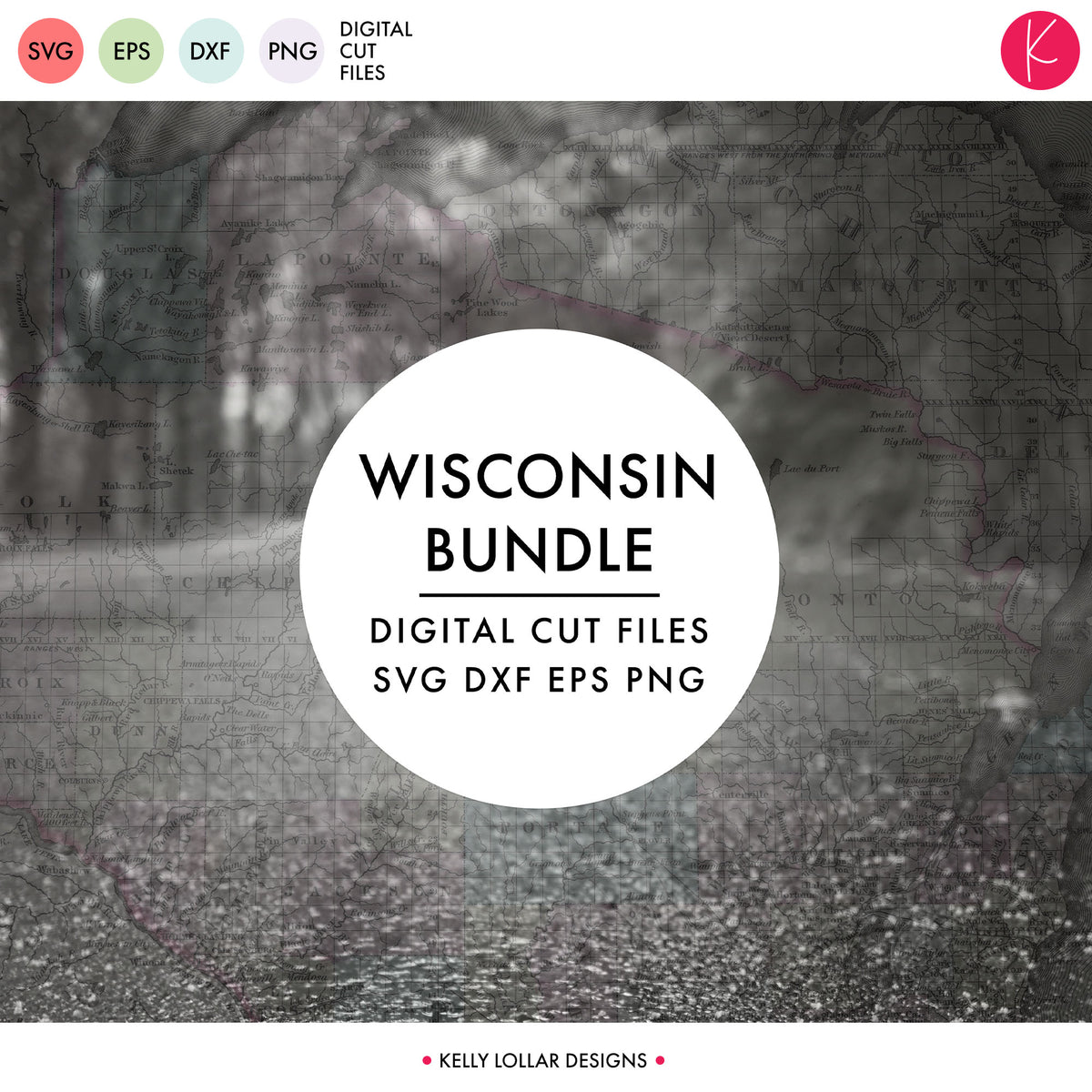 Wisconsin State Bundle | SVG DXF EPS PNG Cut Files