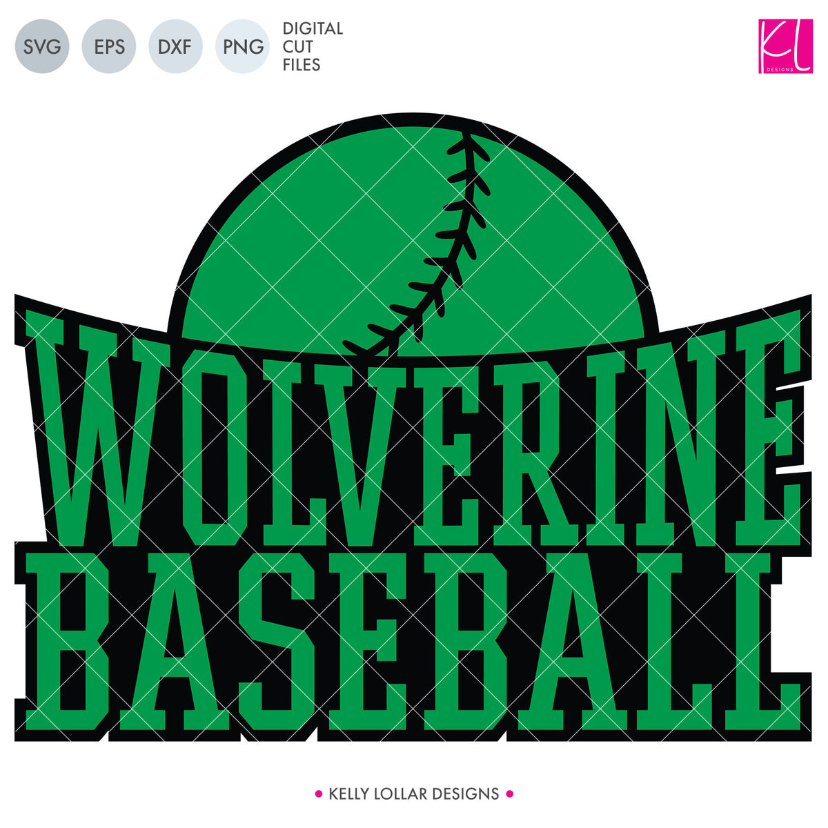 Wolverines Baseball & Softball Bundle | SVG DXF EPS PNG Cut Files