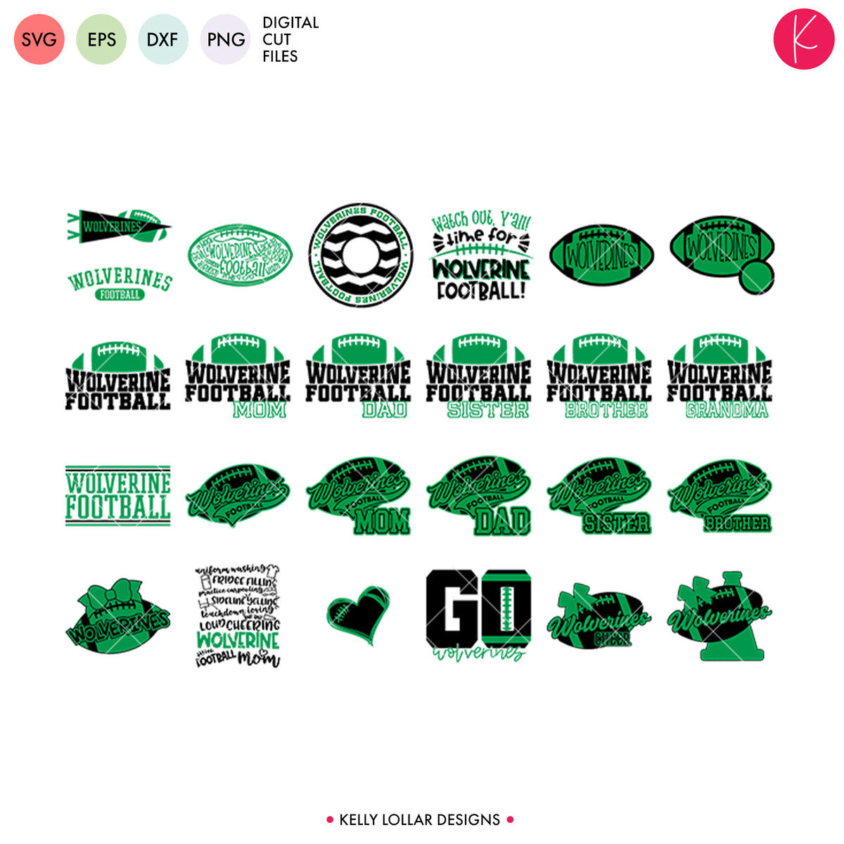 Wolverines Football Bundle | SVG DXF EPS PNG Cut Files