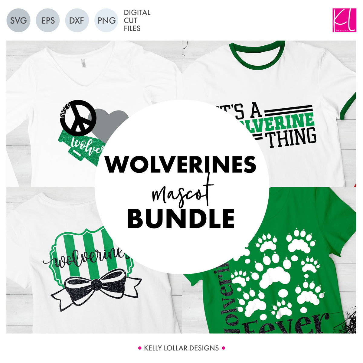 Wolverines Mascot Bundle | SVG DXF EPS PNG Cut Files